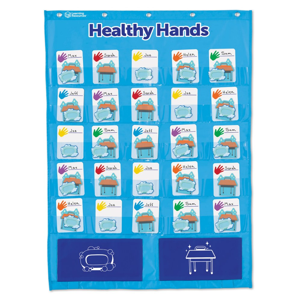 Alternate Image #1 of Healthy Hands Pocket Chart - Encourage Healthy Habits in the Classroom