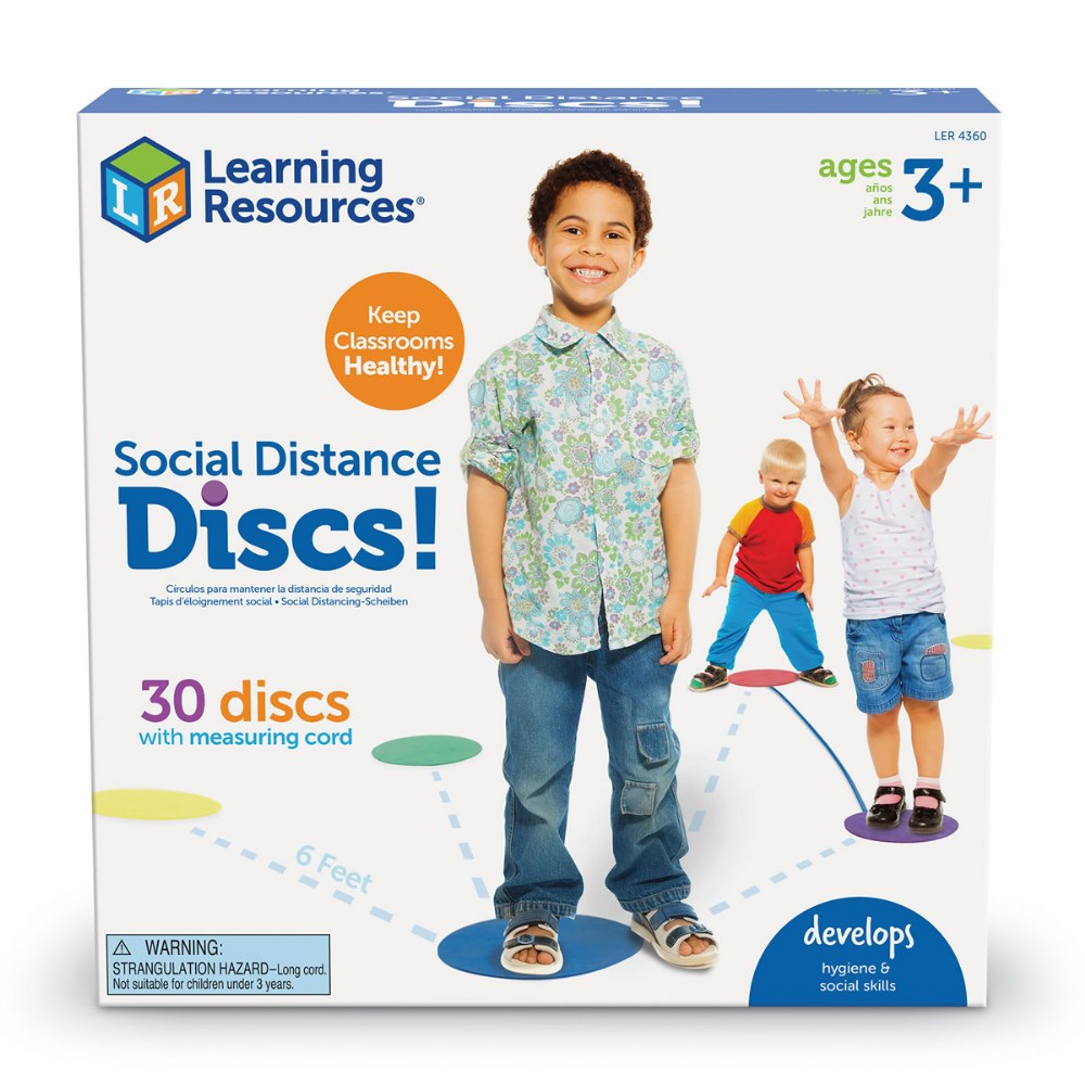 Alternate Image #1 of Social Distance Discs - Set of 30 Colored Foam Circle Mats