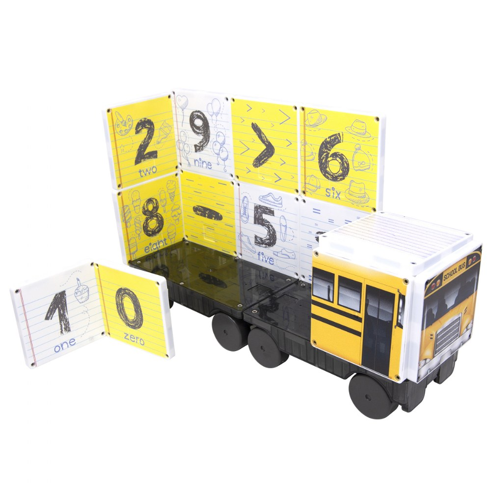 Alternate Image #1 of Kaplan School Bus Magna-Tiles® - 123 School Bus