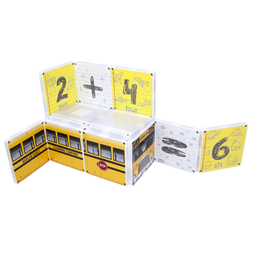 Alternate Image #2 of Kaplan School Bus Magna-Tiles® - 123 School Bus