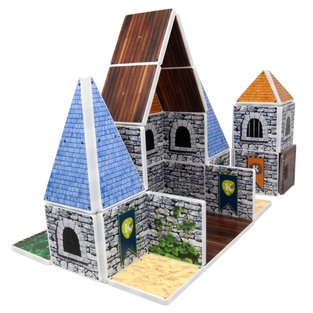 Alternate Image #2 of Kaplan Royal Castle Magna-Tiles® - Royal Castle