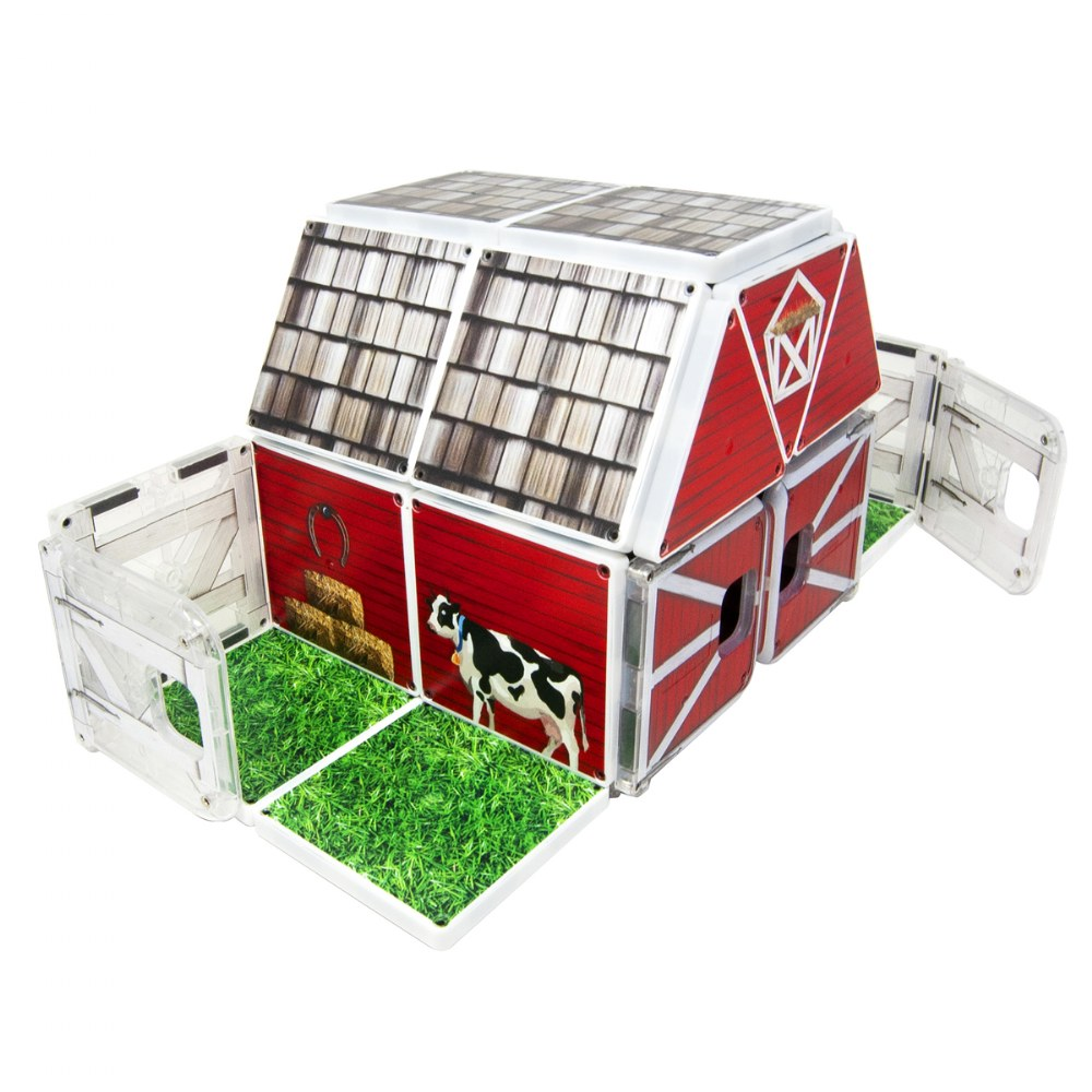 Kaplan Farmyard Barn Magna-Tiles® - Farmyard Barn with Animals