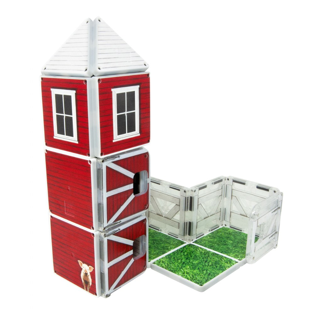 Alternate Image #2 of Kaplan Farmyard Barn Magna-Tiles® - Farmyard Barn with Animals