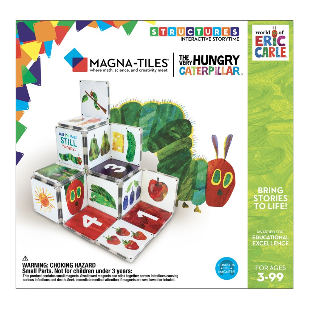 Alternate Image #5 of MAGNA-TILES® Eric Carle The Very Hungry Caterpillar Building Set