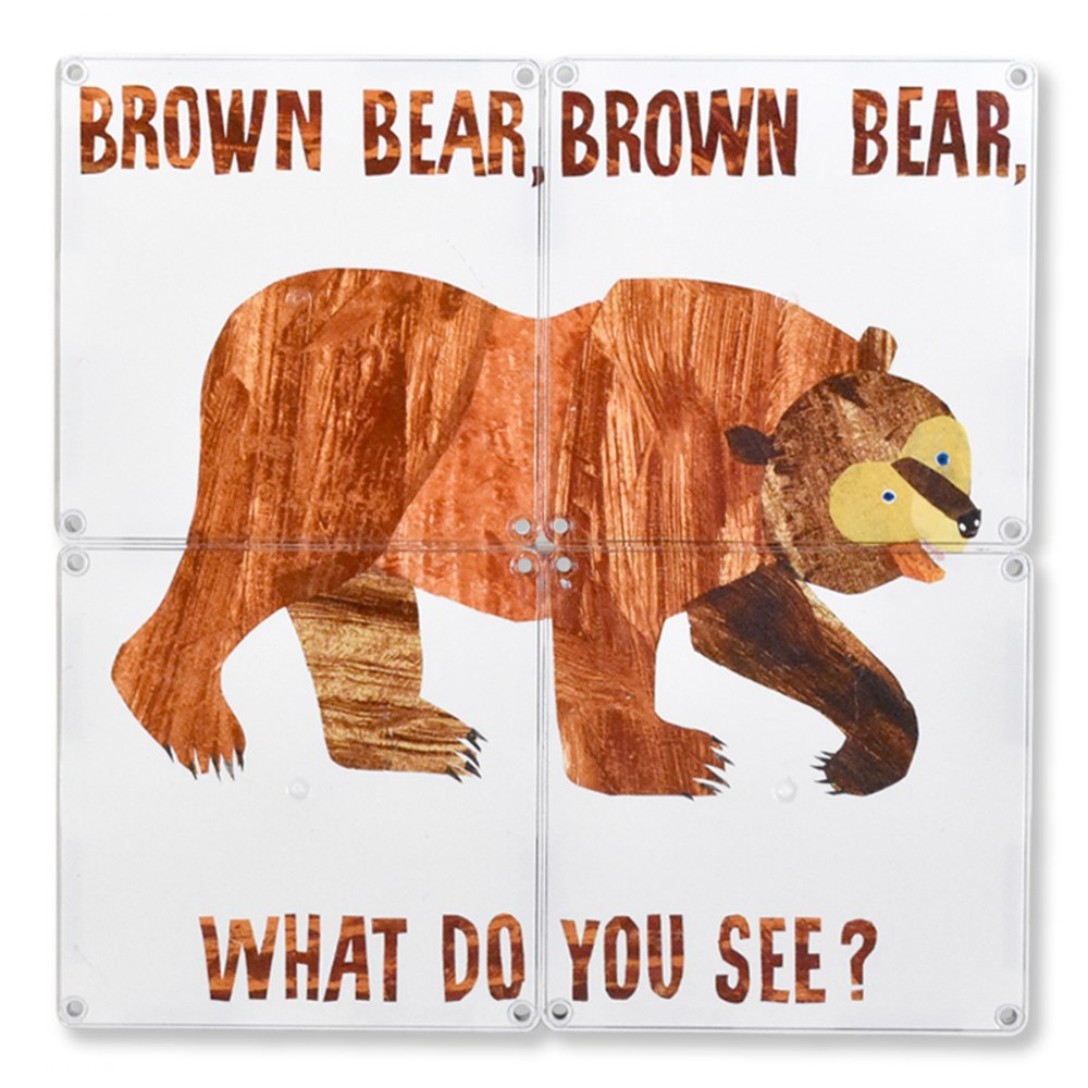 Alternate Image #2 of MAGNA-TILES® - Eric Carle Brown Bear, What Do You See? Building Set