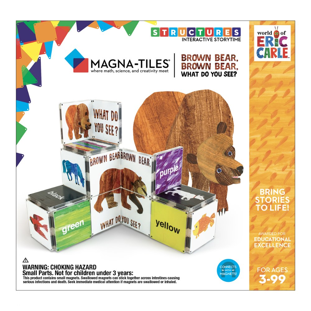 Alternate Image #3 of MAGNA-TILES® - Eric Carle Brown Bear, What Do You See? Building Set