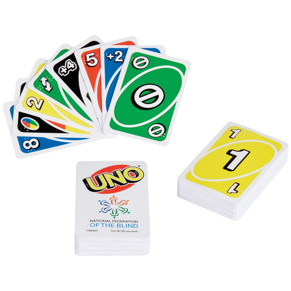 UNO Braille Card Game