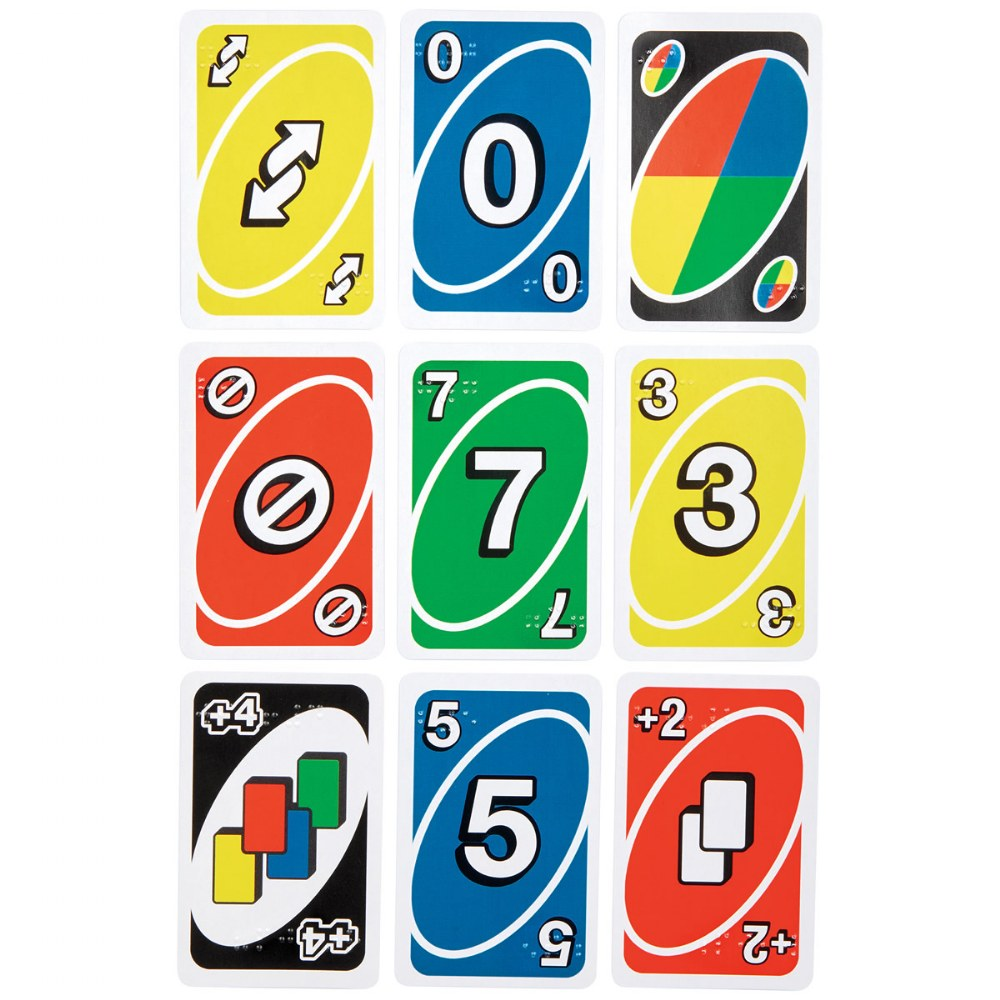 Alternate Image #1 of UNO Braille Card Game