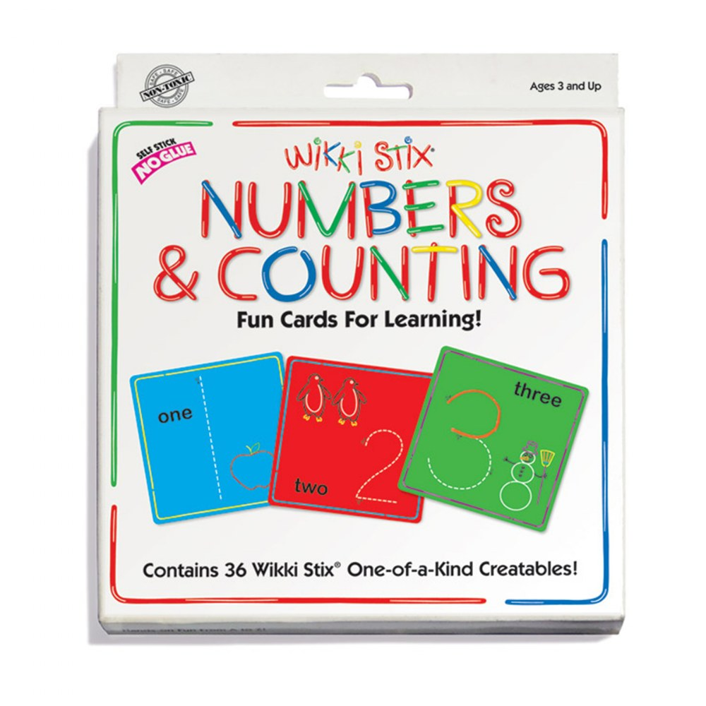 Alternate Image #2 of Wikki Stix® Alphabet With Upper & Lowercase and Numbers & Counting Cards