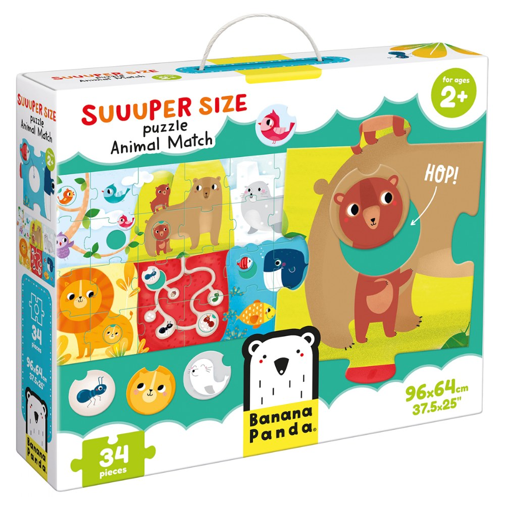 Alternate Image #1 of Suuuper Size Puzzle Animal Match - Large Jigsaw Floor Puzzle for Kids