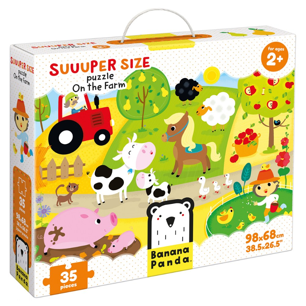 Alternate Image #1 of Suuuper Size Puzzle On the Farm - Large Jigsaw Floor Puzzle for Kids Ages 2+ - 35 Pieces