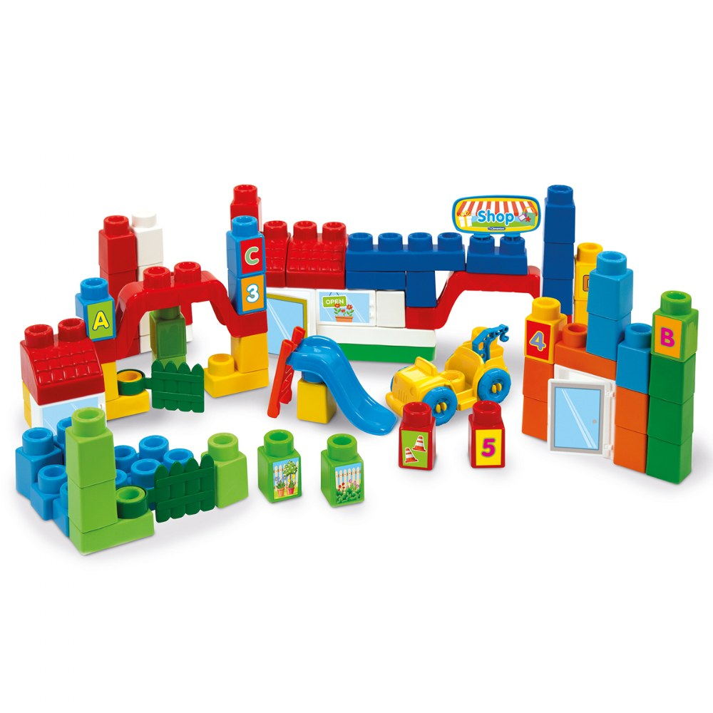 Alternate Image #1 of Clemmy® Plus Build and Create Box, Primary Colors - 80 Pcs.