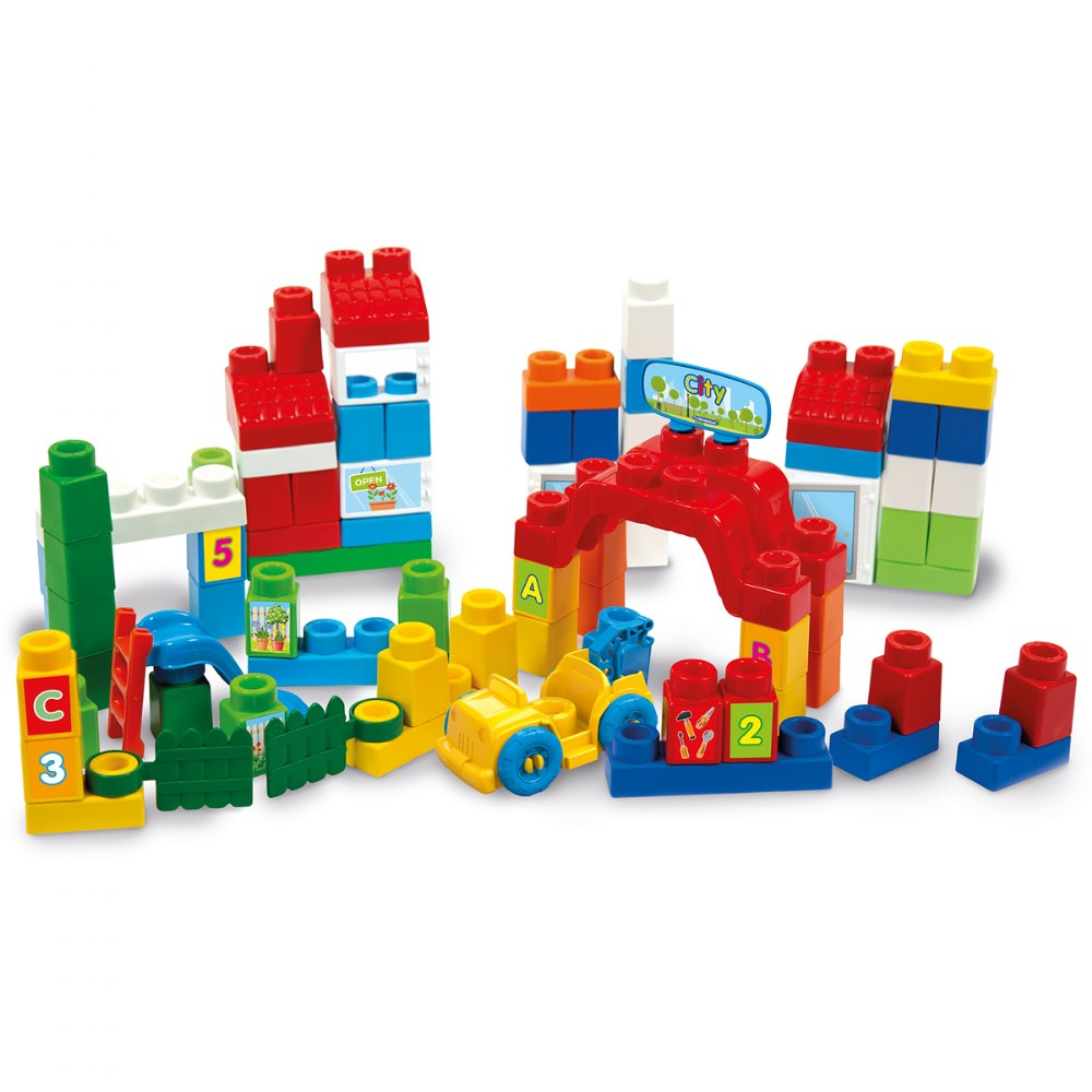 Alternate Image #2 of Clemmy® Plus Build and Create Box, Primary Colors - 80 Pcs.