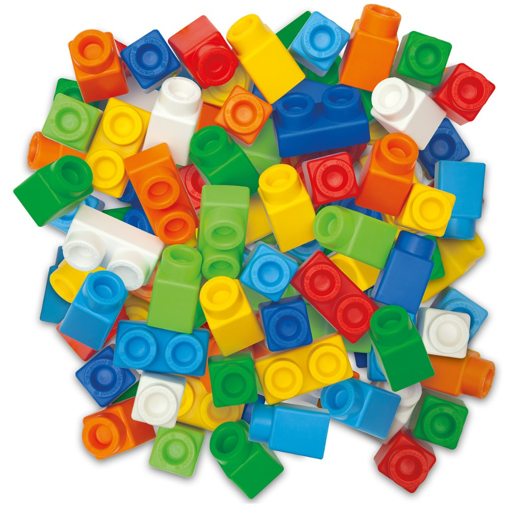 Alternate Image #5 of Clemmy® Plus Build and Create Box, Primary Colors - 80 Pcs.