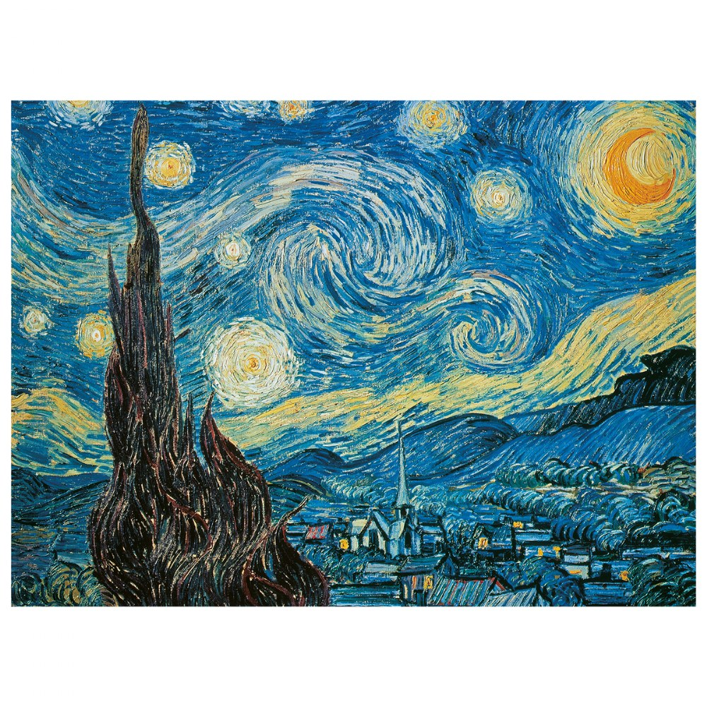 "Alternate Image #1 of Van Gogh ""Starry Night"" 500 Piece Puzzle - Museum Collection"