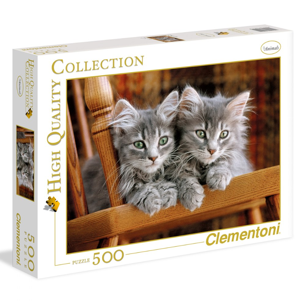 Gray Kittens - 500 Piece Puzzle - High Quality Collection