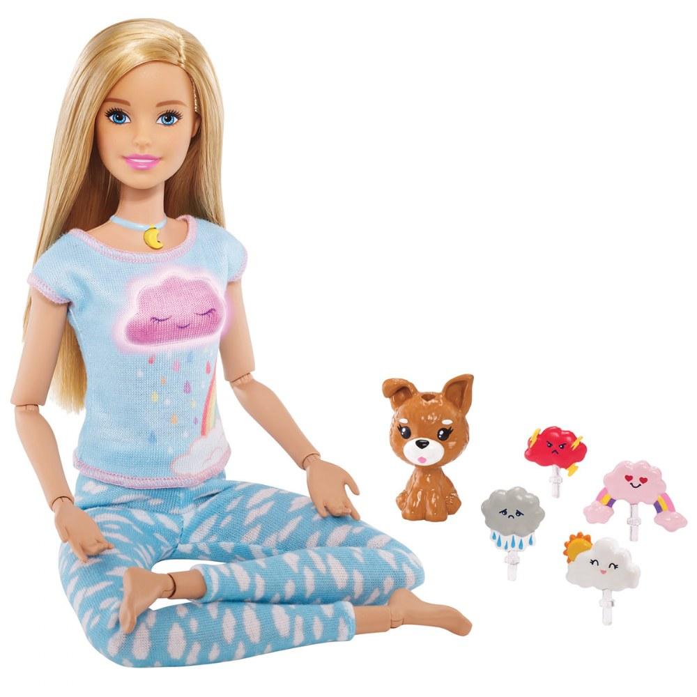 Blonde Breathe with Me Barbie® Yoga Doll