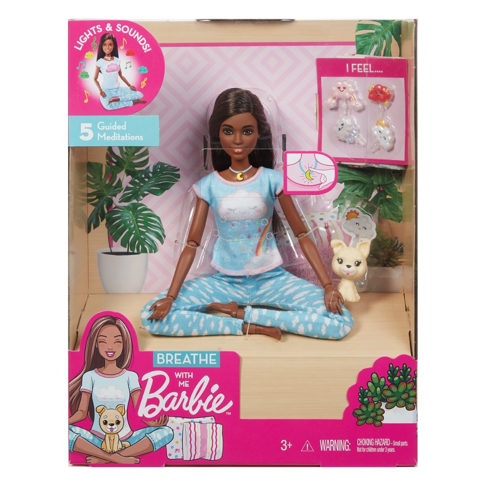 Alternate Image #4 of Dark Hair Breathe with Me Barbie® Meditation and Yoga Doll