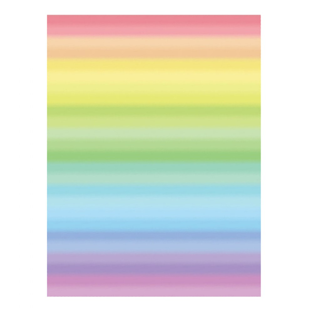 Alternate Image #1 of Double Color Rainbow Paper - 96 Double-Sided Sheets