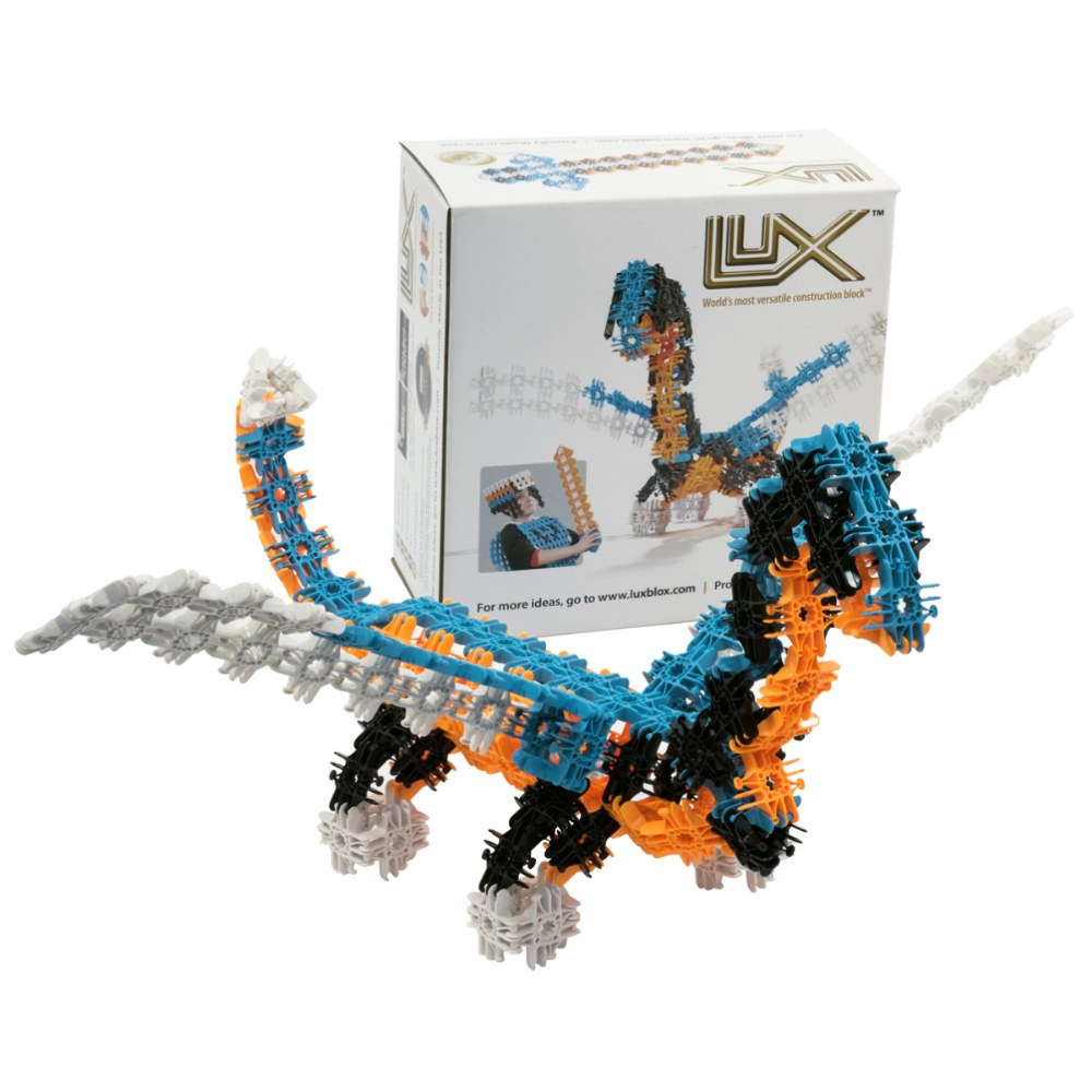 Lux Blox Freestyle Set 166 Pieces - Revolutionary Snapping Hinge Technology
