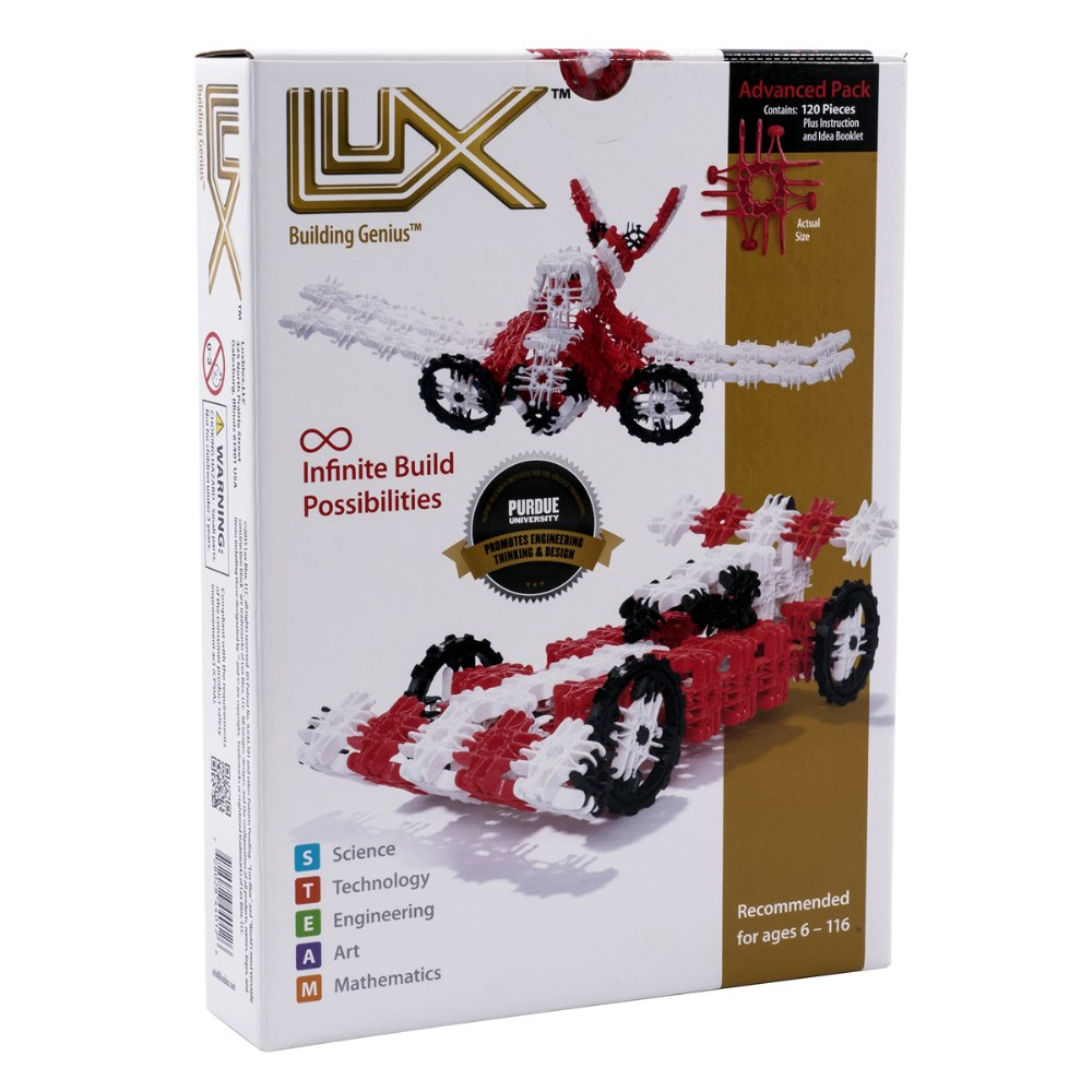 Lux Blox 2-in-1 Car and Airplane Set 120 Pieces - Revolutionary Snapping Hinge Technology