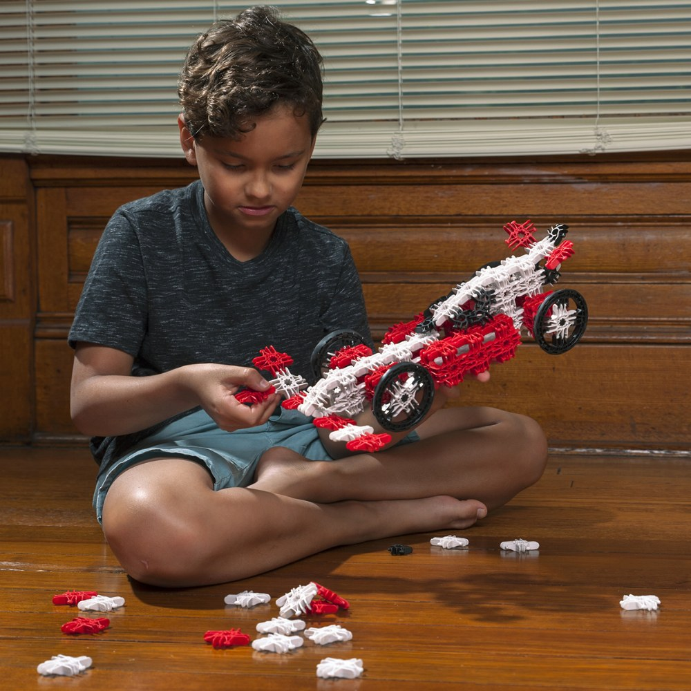 Alternate Image #5 of Lux Blox 2-in-1 Car and Airplane Set 120 Pieces - Revolutionary Snapping Hinge Technology