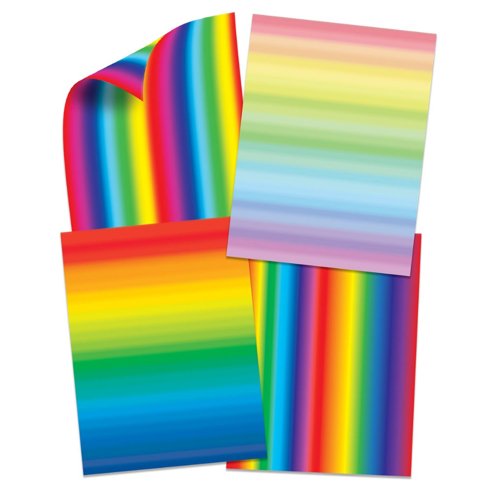 Alternate Image #1 of Double Color Rainbow Paper and Unruly Rulers - 4 Silly Stencils