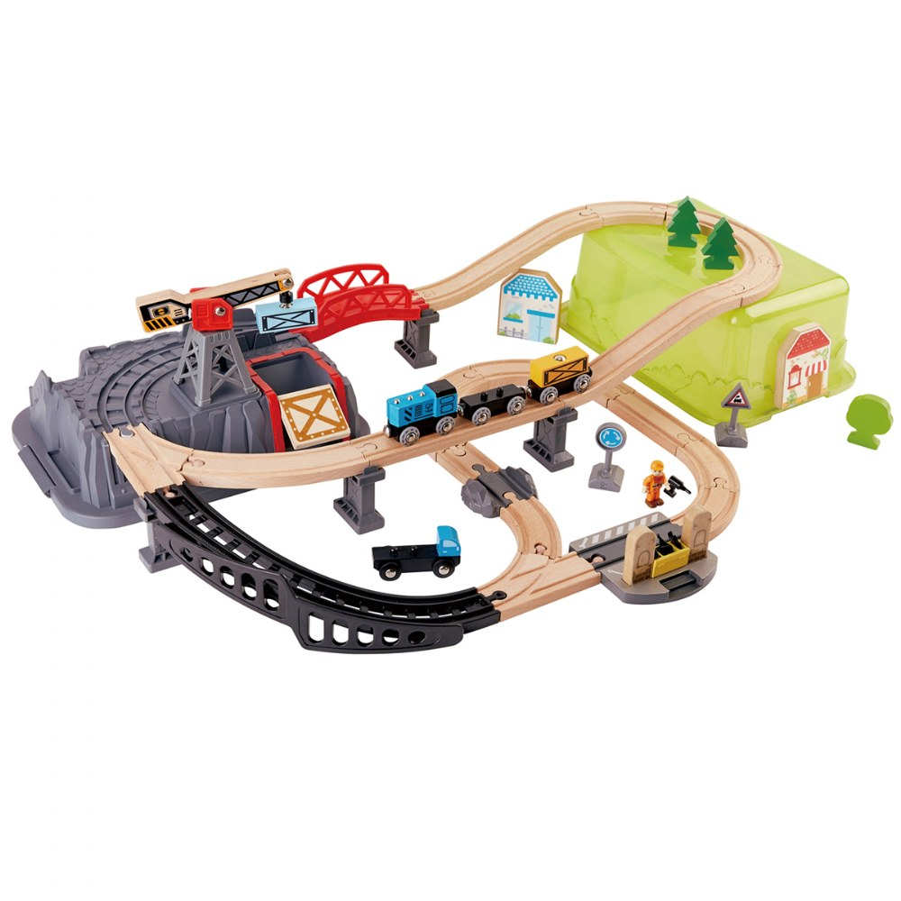 Railway Bucket Builder Set with Train and Tracks