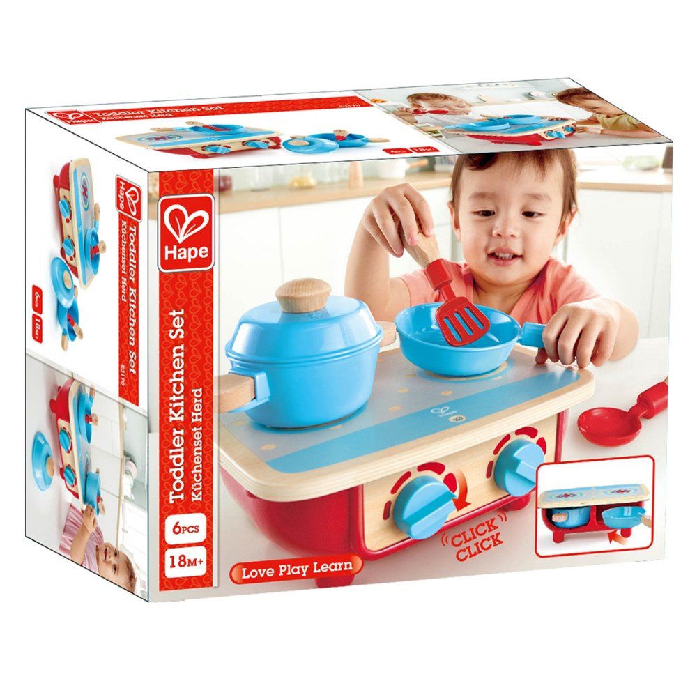 Alternate Image #2 of Portable Toddler Kitchen Set - Wooden 6 Pc Cooking Set