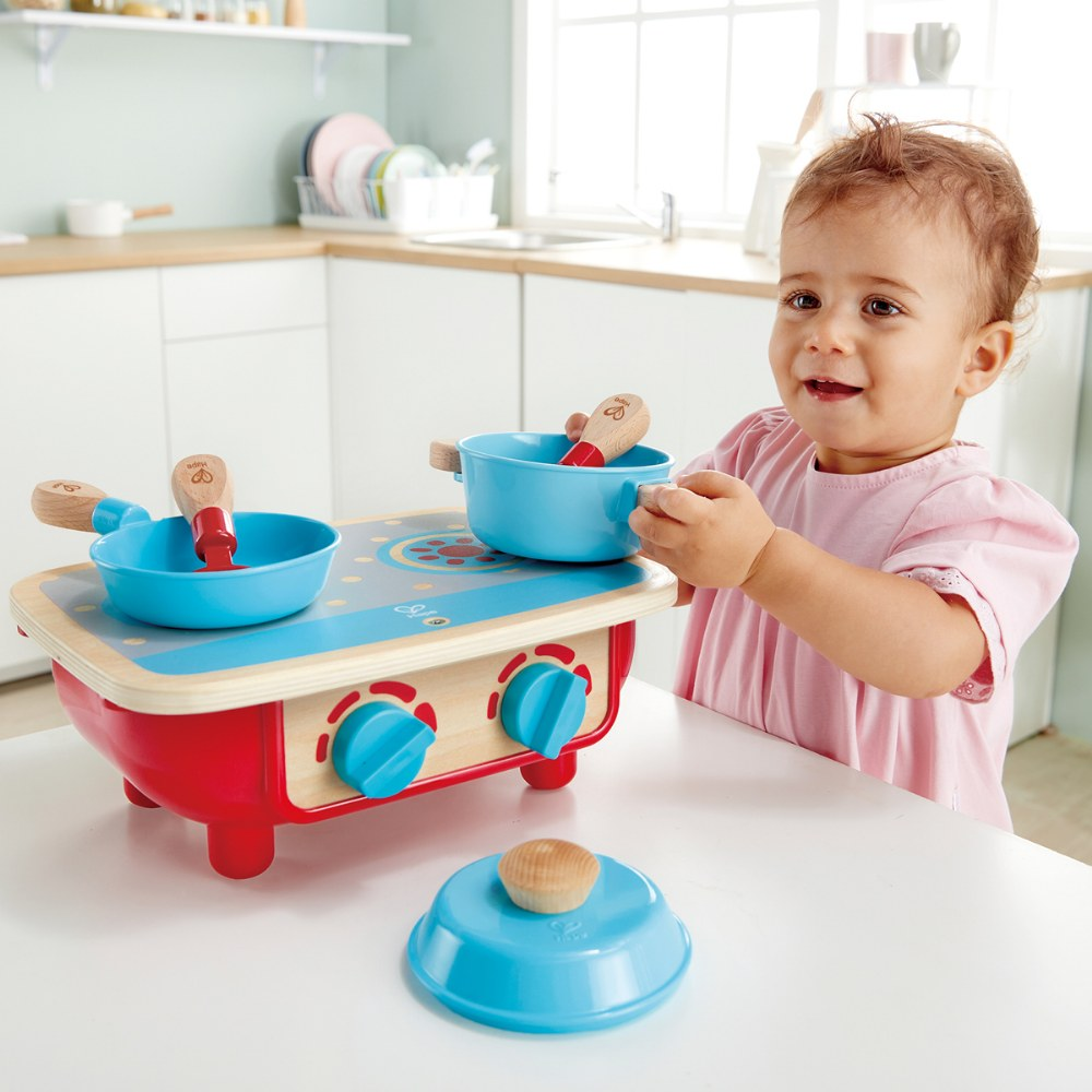 Alternate Image #3 of Portable Toddler Kitchen Set - Wooden 6 Pc Cooking Set