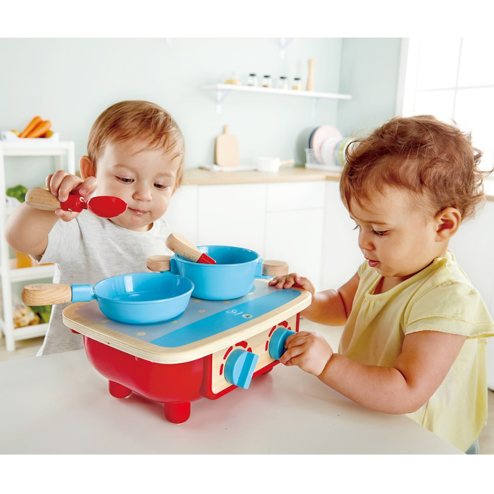 Alternate Image #4 of Portable Toddler Kitchen Set - Wooden 6 Pc Cooking Set