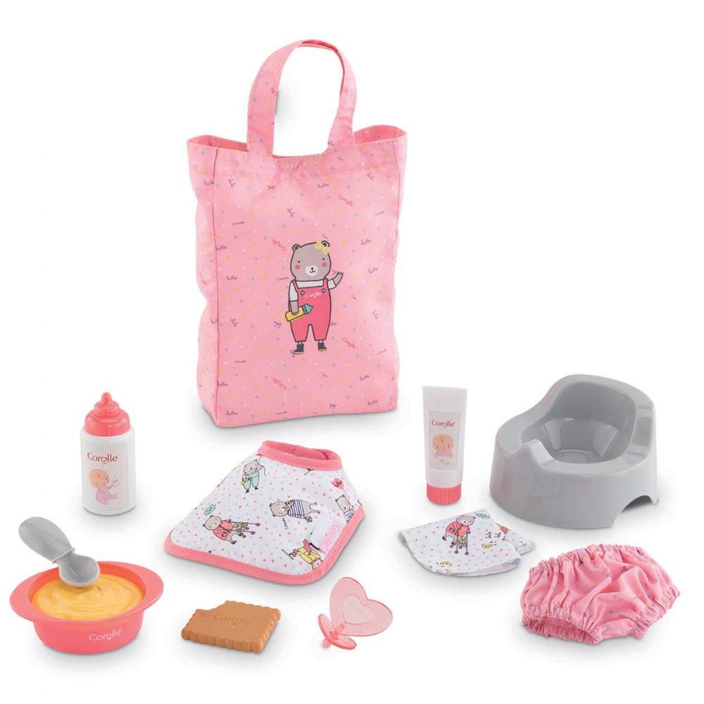 "Alternate Image #1 of Umbrella Doll Stroller & Large Accessories 12"" Baby Doll Set - 11 Accessories"