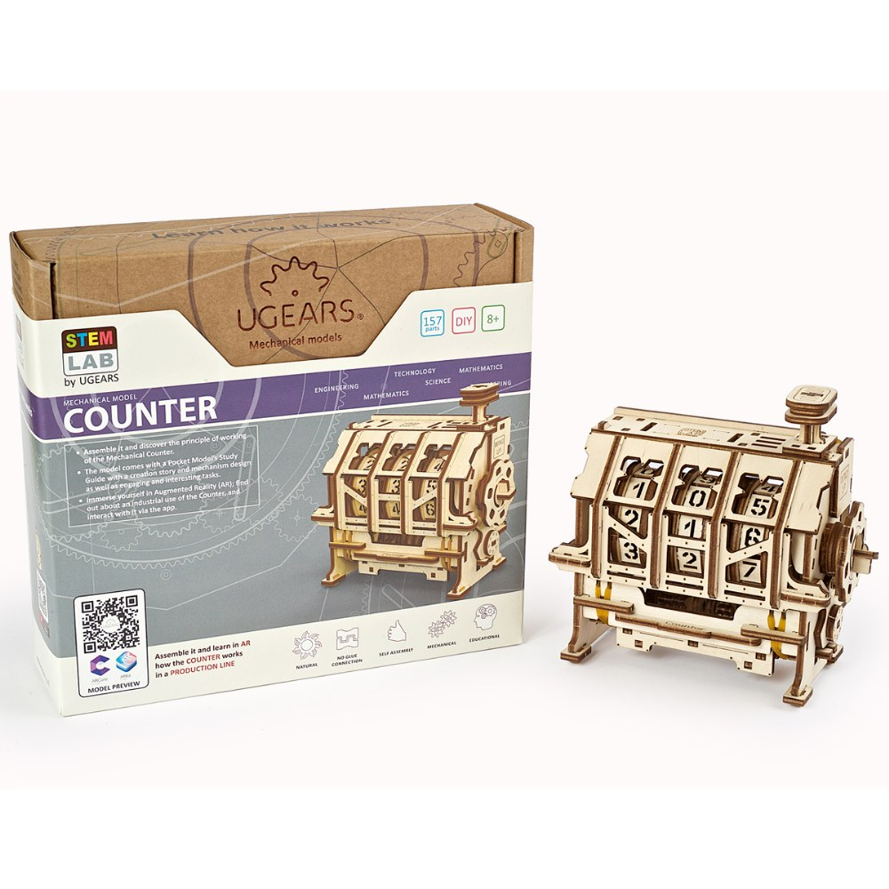 UGears STEM LAB Counter - Educational Mechanical Model Kit