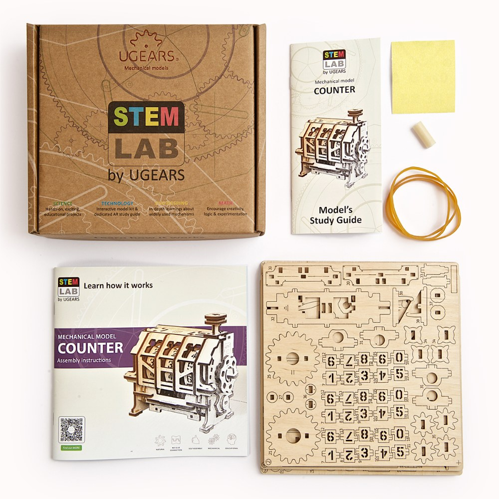 Alternate Image #1 of UGears STEM LAB Counter - Educational Mechanical Model Kit