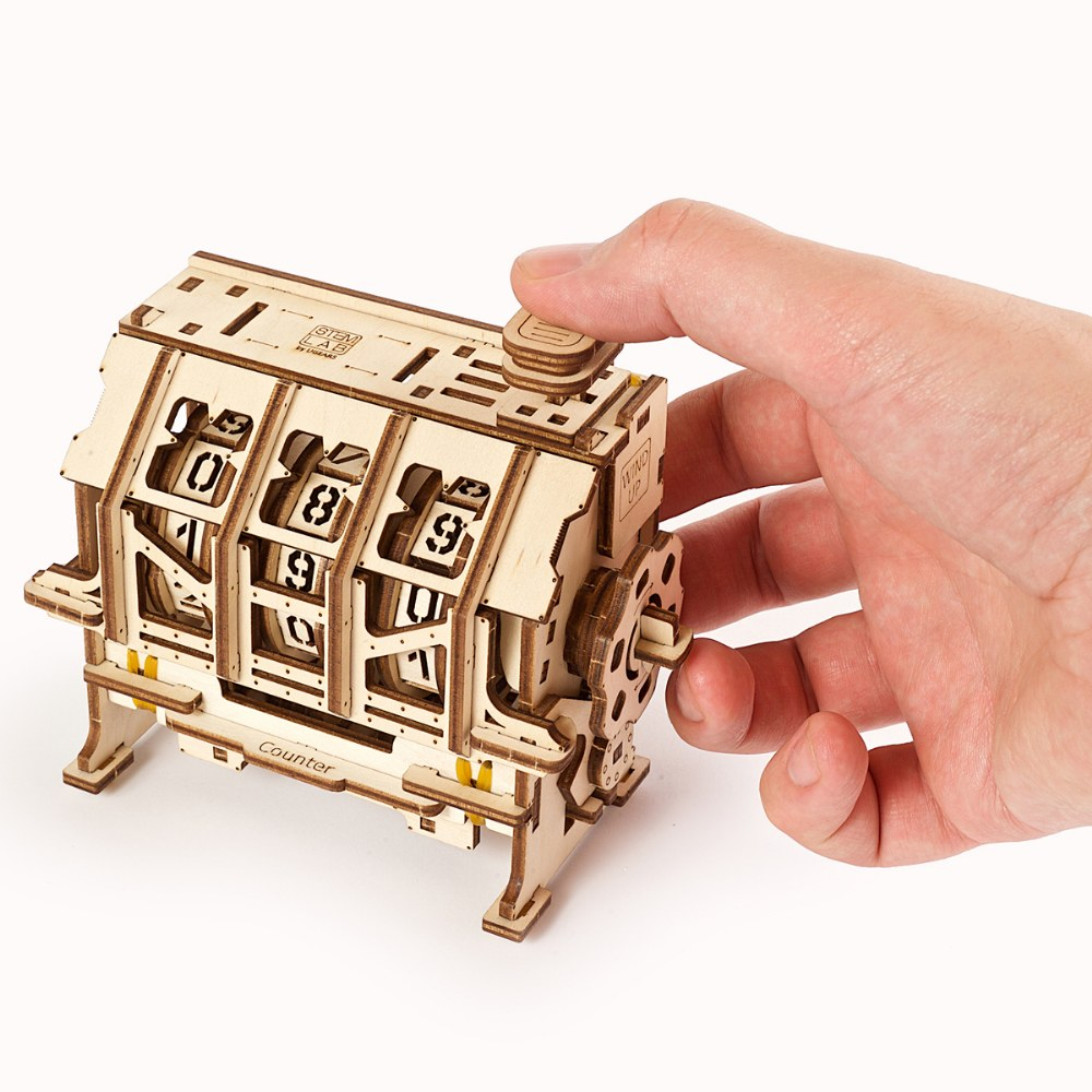 Alternate Image #5 of UGears STEM LAB Counter - Educational Mechanical Model Kit