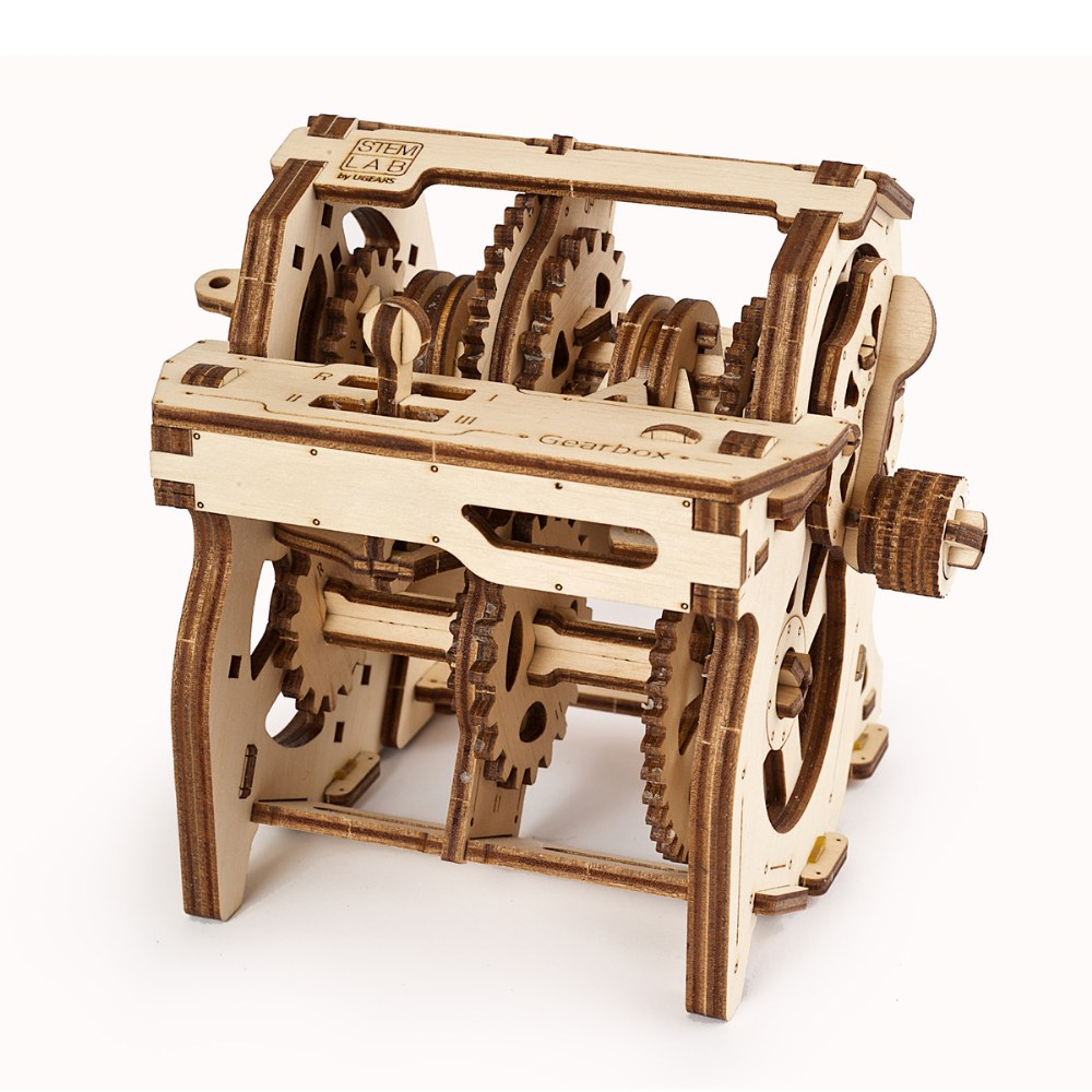 Alternate Image #4 of UGears STEM LAB Gearbox - Educational Mechanical Model Kit