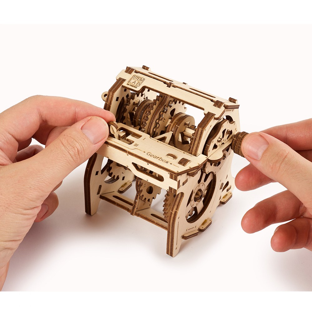 Alternate Image #5 of UGears STEM LAB Gearbox - Educational Mechanical Model Kit