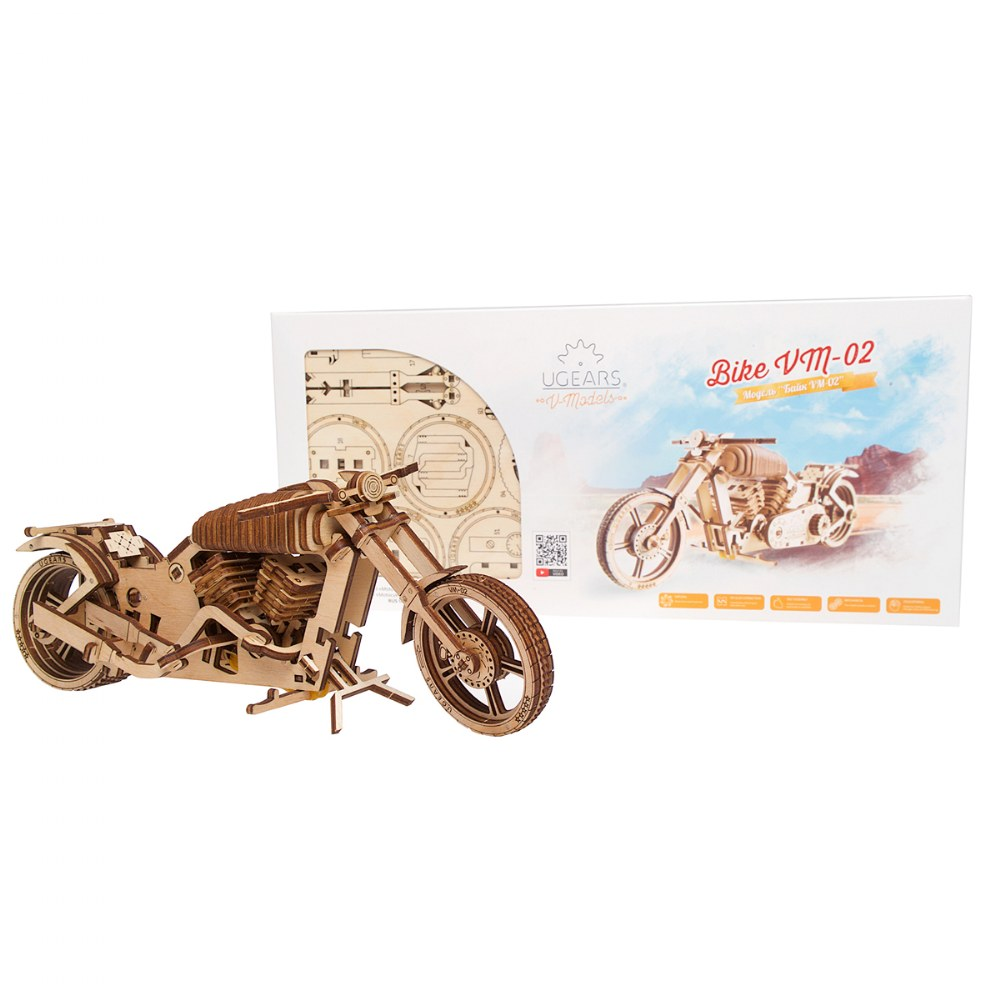 UGears Bike VM-02 - Mechanical Model Kit