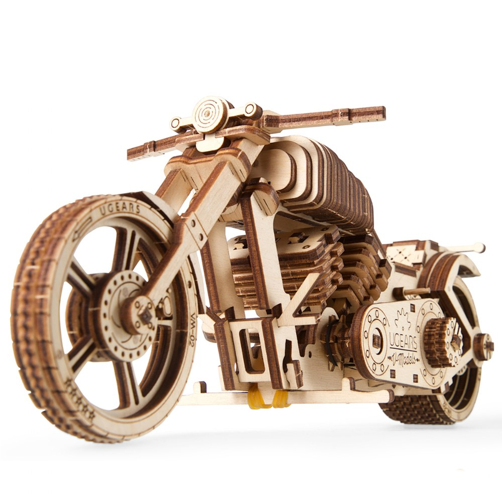 Alternate Image #3 of UGears Bike VM-02 - Mechanical Model Kit