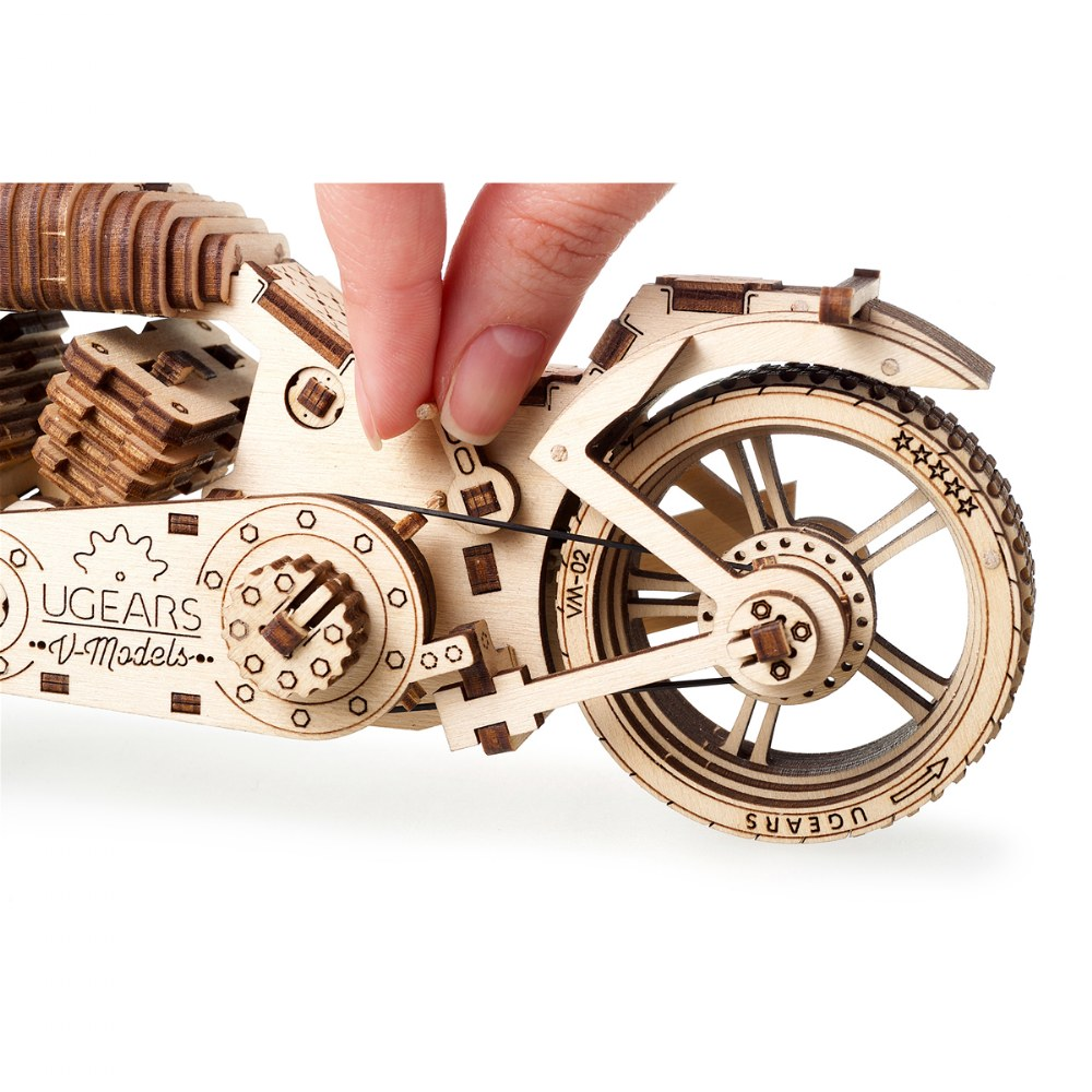 Alternate Image #5 of UGears Bike VM-02 - Mechanical Model Kit