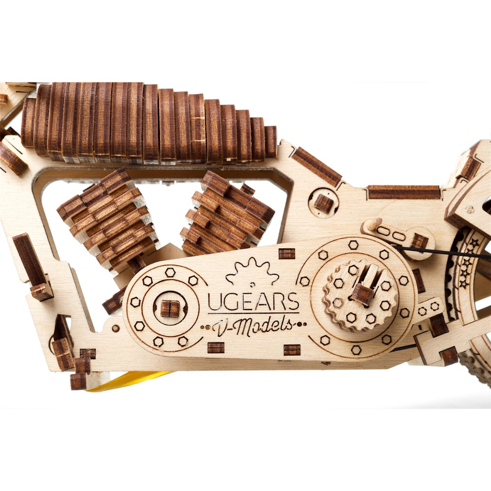 Alternate Image #6 of UGears Bike VM-02 - Mechanical Model Kit