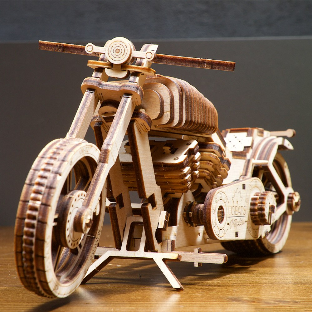 Alternate Image #8 of UGears Bike VM-02 - Mechanical Model Kit