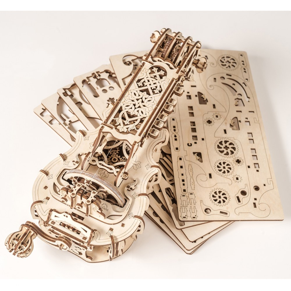 Alternate Image #1 of UGears Hurdy-Gurdy - Mechanical Model Kit