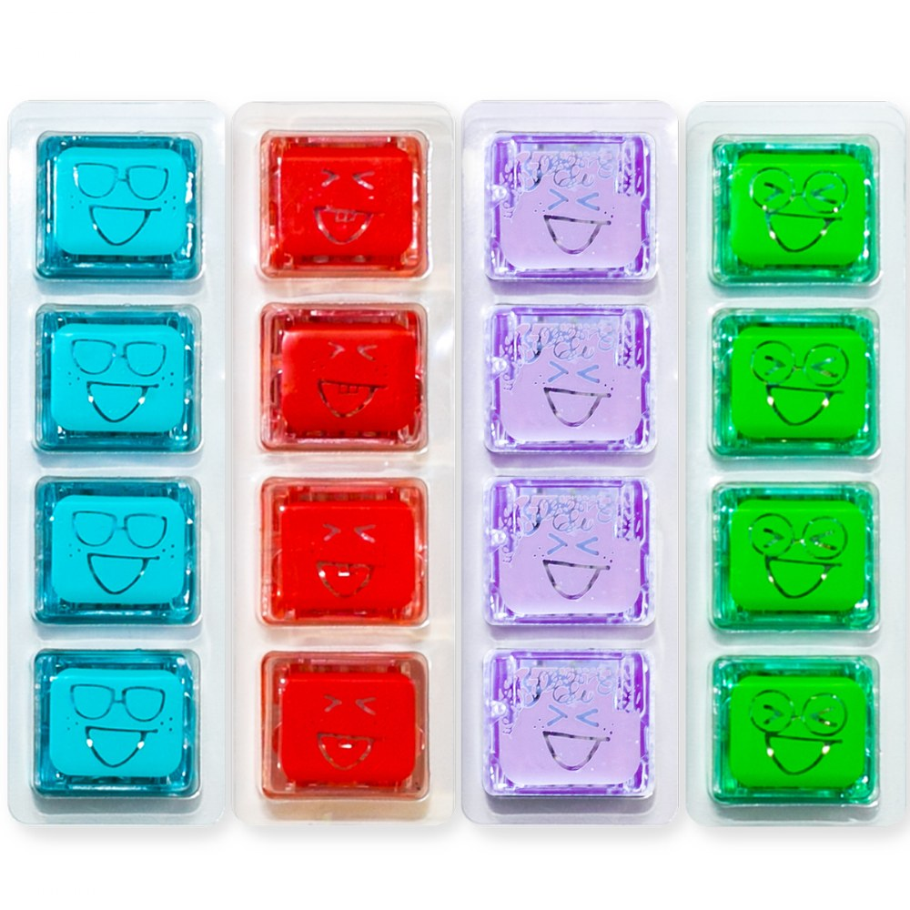 Alternate Image #1 of Glo Pals Light Up Water Cubes - 16 in Red, Blue, Green and Purple