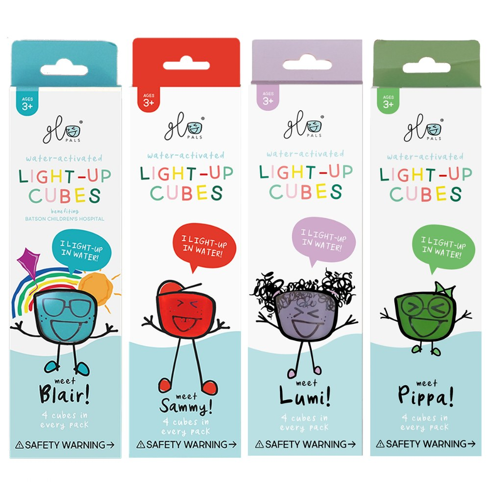 Alternate Image #2 of Glo Pals Light Up Water Cubes - 16 in Red, Blue, Green and Purple