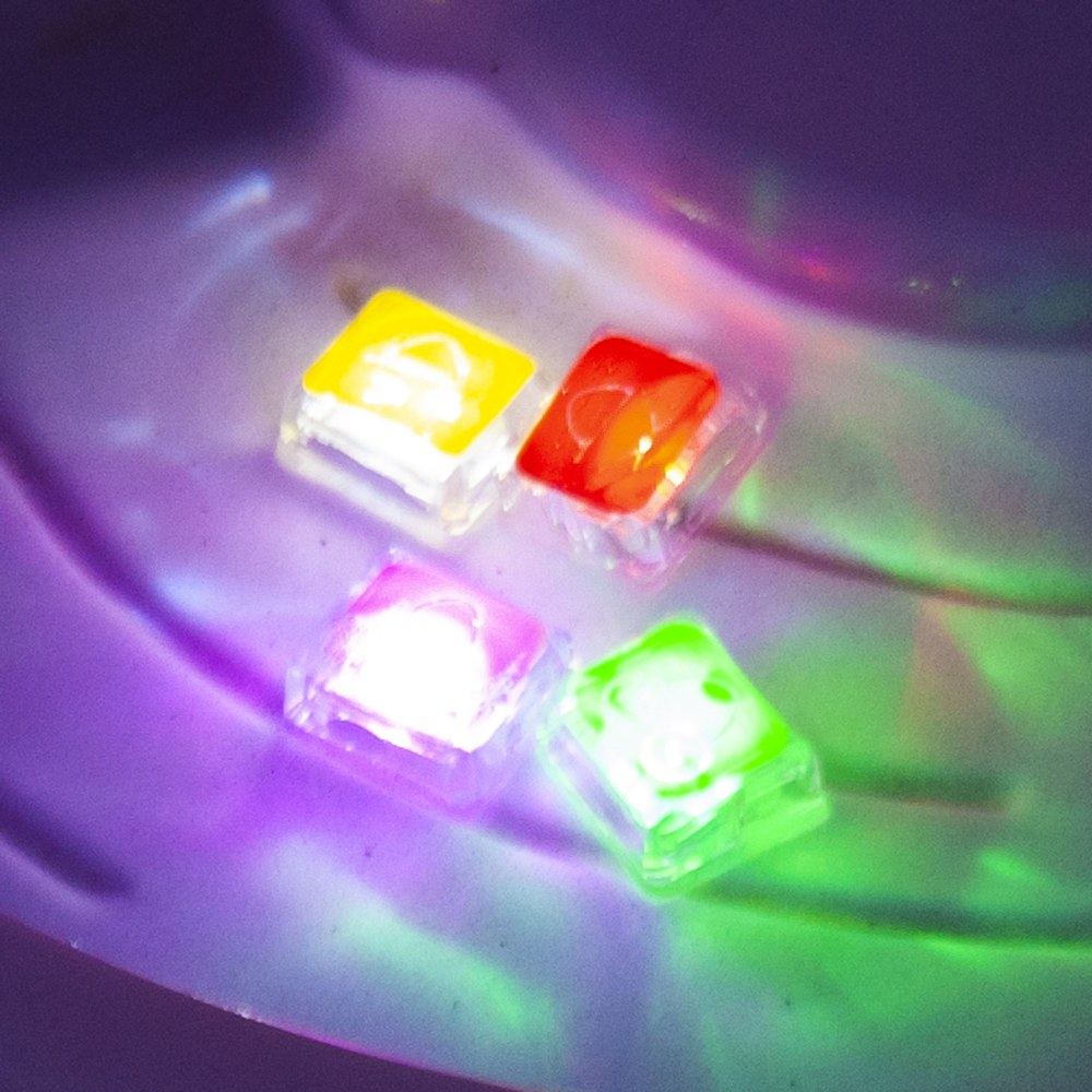 Alternate Image #3 of Glo Pals Light Up Water Cubes - 16 in Red, Blue, Green and Purple