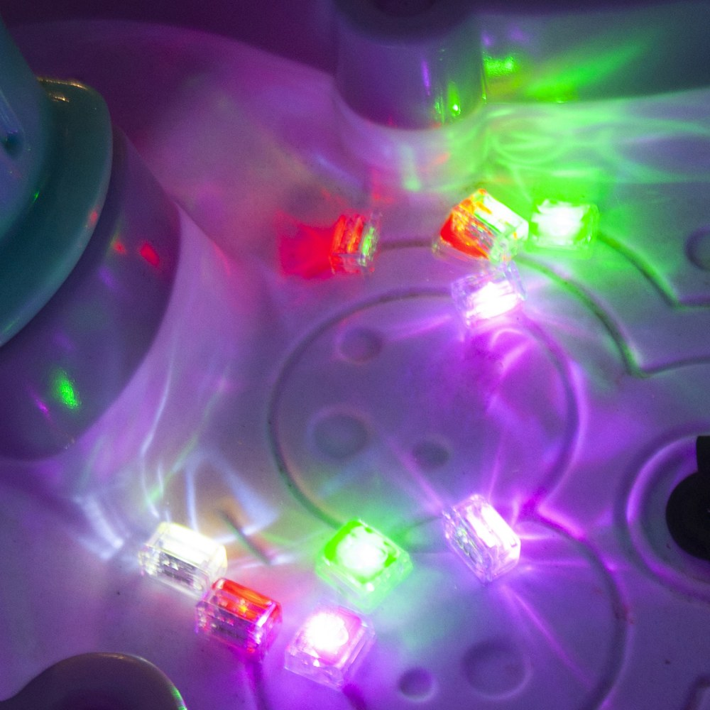 Alternate Image #4 of Glo Pals Light Up Water Cubes - 16 in Red, Blue, Green and Purple