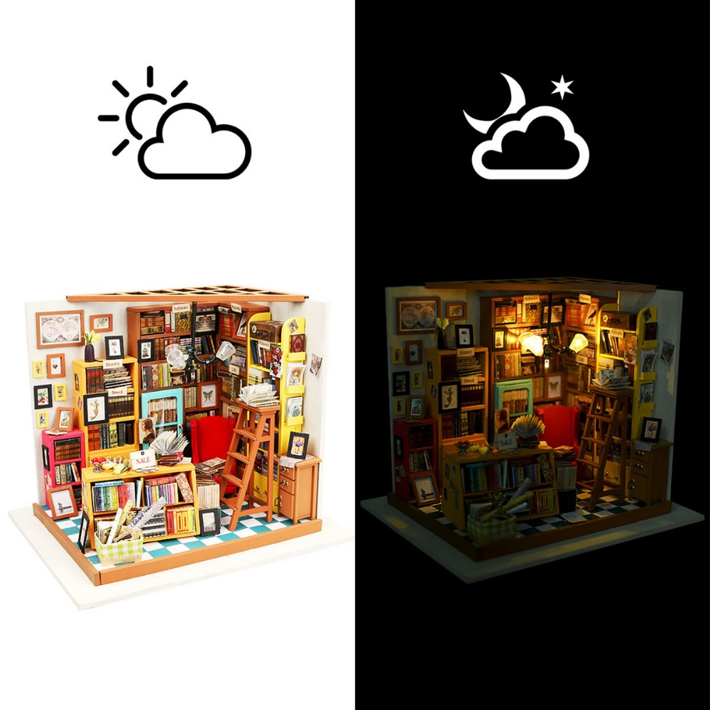Alternate Image #2 of DIY 3D Wooden Puzzles - Miniature House: Sam's Study