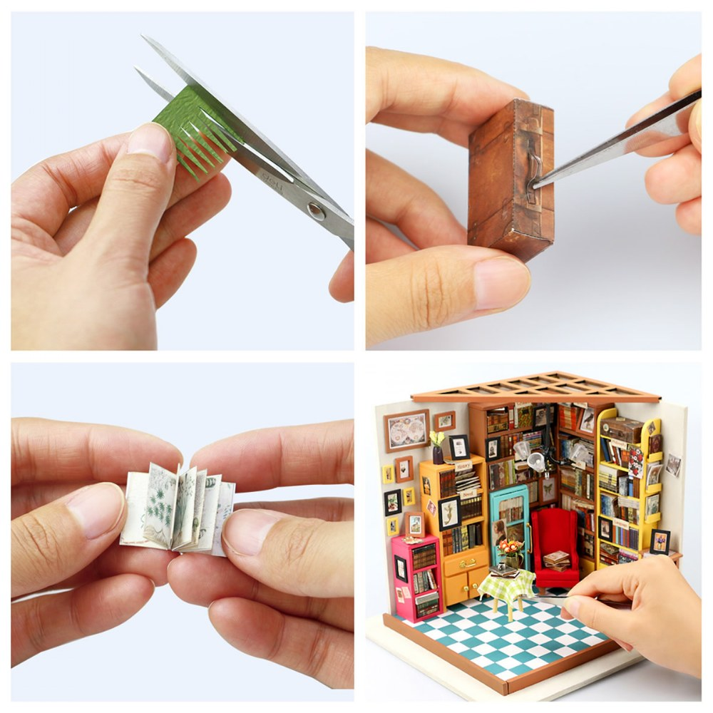 Alternate Image #8 of DIY 3D Wooden Puzzles - Miniature House: Sam's Study