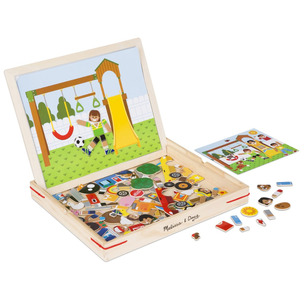Alternate Image #2 of Wooden Magnetic Matching Picture Game